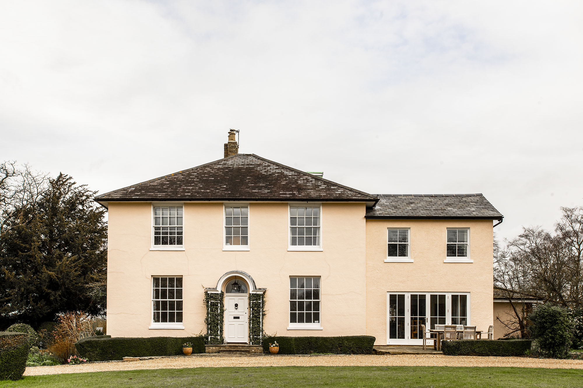 Grade II listed Georgian Rectory - two storey extension